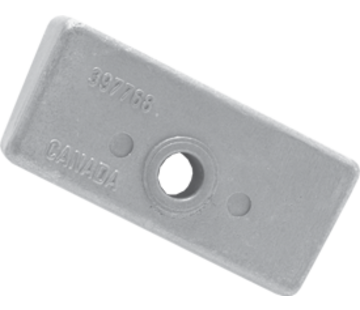 Allpa Aluminium Anode OMC / Johnson / Evinrude  Block (OEM 398331)