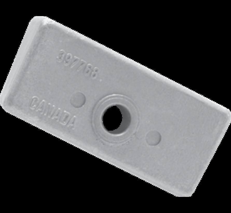 Aluminium Anode OMC / Johnson / Evinrude  Block (OEM 398331)