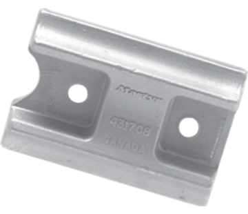 Allpa Aluminium Anode OMC / Johnson / Evinrude  Curved Block (OEM 431708)
