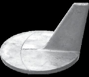 Allpa Aluminium Anode Mercruiser / Sterndrive  Cutdown Skeg (OEM 46399)
