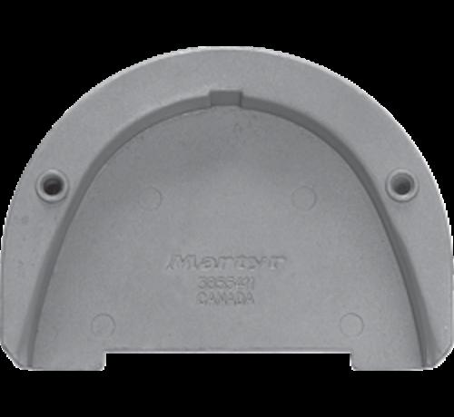 Allpa  Aluminium Anode Volvo Penta sterndrive  transom plate for SX-drive (OEM 3855411)