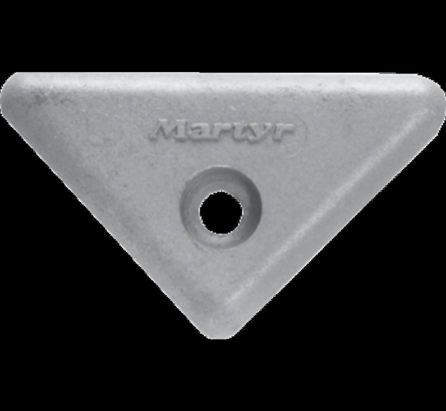 Aluminium Anode Volvo Penta sterndrive  triangle for 290/290DP/SX/DP-X (OEM 872193)