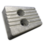Aluminium Anode Volvo Penta sterndrive  transom shield for SXA / DPS (OEM 3841427)