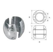 Allpa Aluminium Anode voorDiameter 22mm-as bolvormig