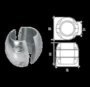 Aluminium Anode voorDiameter 30mm-as bolvormig