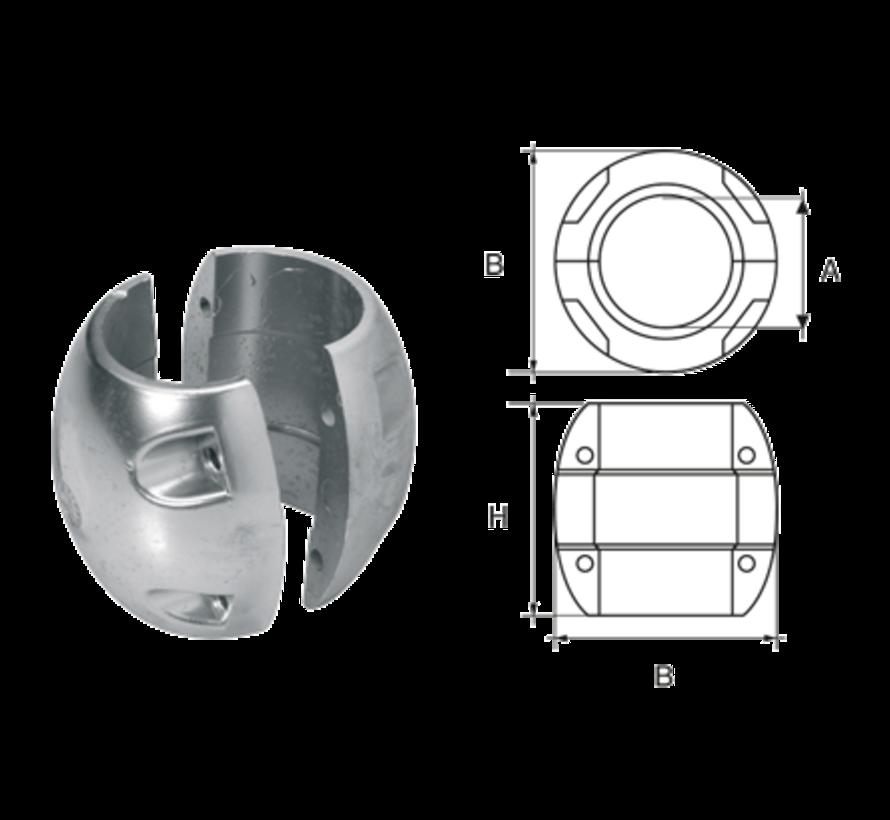 Aluminium Anode voorDiameter 40mm-as bolvormig