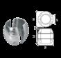 Aluminium Anode voorDiameter 50mm-as bolvormig