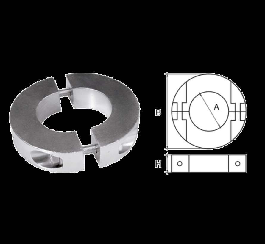 Aluminium Anode voorDiameter 19mm-as ringvormig/dun