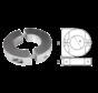 Aluminium Anode voorDiameter 25mm-as ringvormig/dun