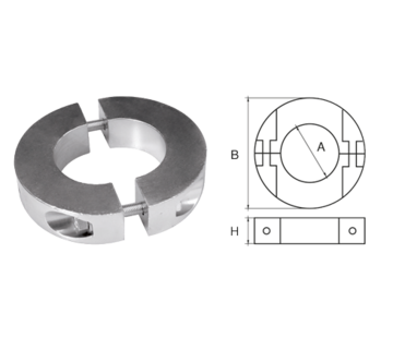 Allpa Aluminium Anode voorDiameter 35mm-as ringvormig/dun