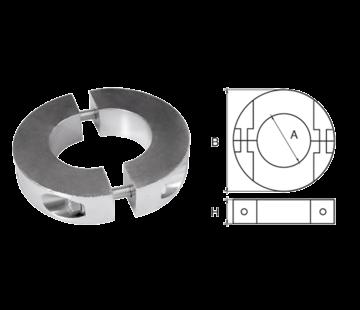 Allpa Aluminium Anode voorDiameter 50mm-as ringvormig/dun