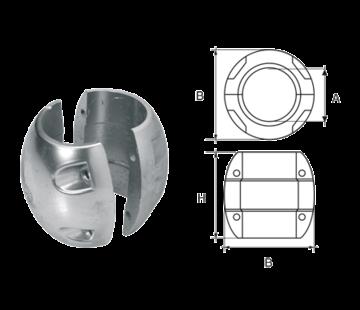Allpa Zinkanode voorDiameter 22mm-as bolvormig