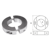 Allpa Zinkanode voorDiameter 25mm-as ringvormig/dun