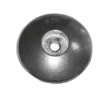 Allpa Zinken ronde roerblad-anode Diameter 125mm (1 35kg)