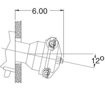Seastar SeaStar 20 Graden Montageset voor stuurkop