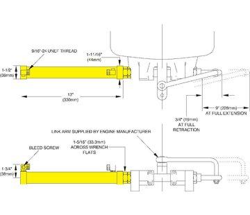 Seastar SeaStar Outboard Cilinder Zijmontage