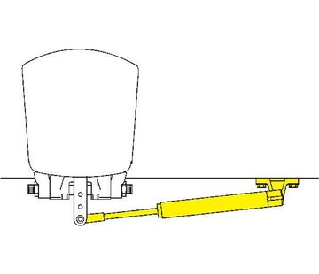 Seastar SeaStar Outboard cilinder spiegelmontage