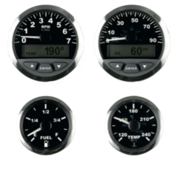 Allpa Matrix / SmartCraft toerenteller met LCD  7000 omw./min.  3  zwart met RVS-rand