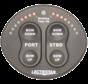 Bedienpaneel met trim tab Indicator  12V en 24V  zwart