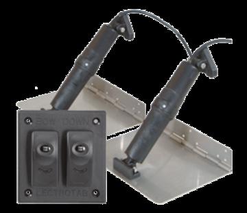 Allpa Elektrische trim tab set  9x12 12V (boot 16'-26'/5-7 5m) incl. bedienpaneel (double rocker switch)