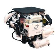 Hyundai Scheepsdieselmotor S270P TURBO & intercooler  Technodrive keerk. TM880A  reductie 2.60:1