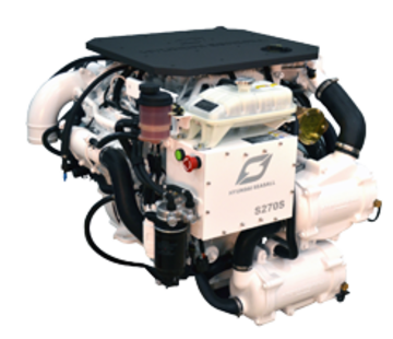 Hyundai Hyundai Scheepsdieselmotor S270P TURBO & intercooler  Technodrive keerk. TM880A  reductie 2.60:1