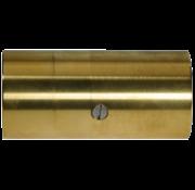 Schroefbaar bronzen tussenlager met inwendige draad en Phenol  lagerbus Ø35mm & koker Ø50mm