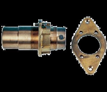 Allpa Bronzen buitenlager met contraflens  voor schroefas Ø30mm & koker Ø45mm