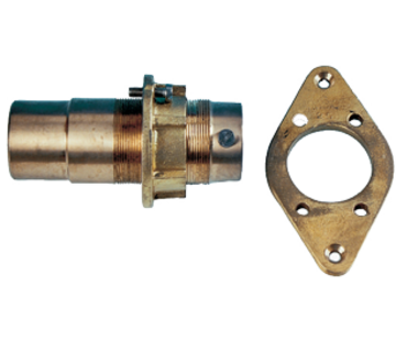 Allpa Bronzen buitenlager met contraflens  voor schroefas Ø50mm & koker Ø65mm