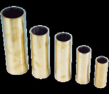 Allpa Neopreen lagerbus  messing mantel  voor as Ø40mm  buitenmaat 2-1/8  L=6-1/2