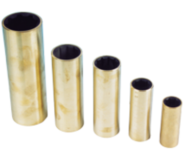 Allpa Neopreen lagerbus  messing mantel  voor as Ø50mm  buitenmaat 2-5/8  L=8