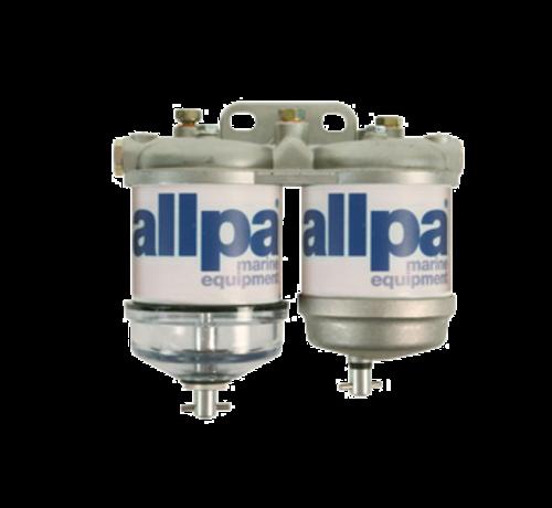 Allpa allpa Dubbel brandstoffilter voor diesel  met waterafscheider  50l/u  met 2 aluminium reservoir