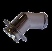 Allpa RVS uitlaat huiddoorvoer  Diameter 50m  45Graden