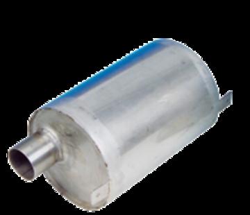 Allpa RVS waterlock  horizontaal  slangaansluiting Ø40mm  L=230mm  Ø160mm