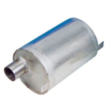 Allpa RVS waterlock  horizontaal  slangaansluiting Diameter 45mm  L=230mm  Diameter 160mm