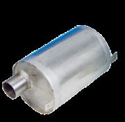 Allpa RVS waterlock  horizontaal  slangaansluiting Diameter 50mm  L=230mm  Diameter 160mm