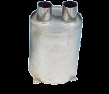 Allpa RVS waterlock  verticaal  slangaansluiting Diameter 45mm  H=200mm  Diameter 160mm