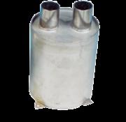 Allpa RVS waterlock  verticaal  slangaansluiting Diameter 60mm  H=200mm  Diameter 160mm