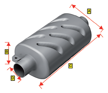 Allpa Kunststof uitlaatdemper  slangaansluiting Diameter 50mm