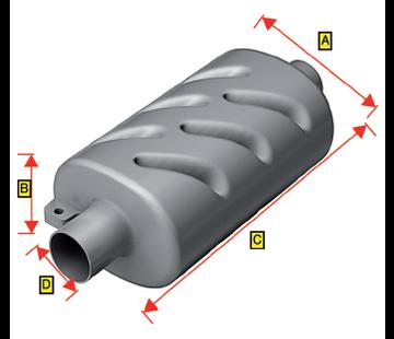 Allpa Kunststof uitlaatdemper  slangaansluiting Diameter 90mm