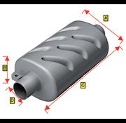 Allpa Kunststof uitlaatdemper  slangaansluiting Diameter 102mm