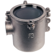 Allpa Brons-Vernikkeld koelwaterfilter (robuust) met RVS 316 zeef  1-1/4  H=178mm  12500l/h
