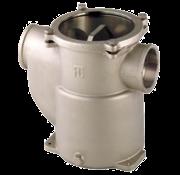Brons-Vernikkelde koelwaterfilters (robuust) met RVS 316 zeef  1/2  H=117mm  2400l/h