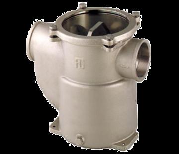 Allpa Brons-Vernikkelde koelwaterfilters (robuust) met RVS 316 zeef  1/2  H=117mm  2400l/h