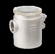 Messing-vernikkeld koelwaterfilter met RVS 316 zeef  3/4
