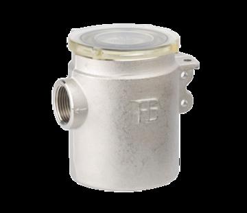 Allpa Messing-vernikkeld koelwaterfilter met RVS 316 zeef  3/4
