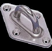 Allpa RVS ruitvormige oogplaat  40x64mm  Diameter 6mm