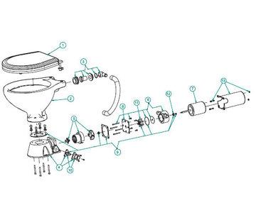 Johnson Johnson Pump motor 24V voor toilet