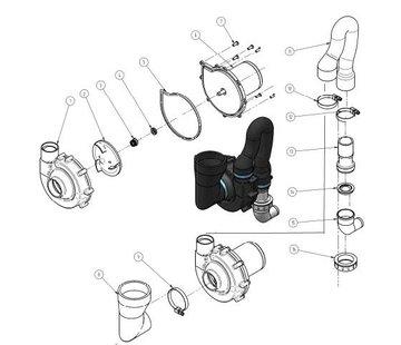 Allpa Schakelpaneel voor hydro-vacüum elektrisch toilet  12V & 24V  max. 20A