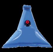 Flexibele kunststof drinkwatertank 55l  afm. 950x950mm  punt model  inclusief dop & nippels